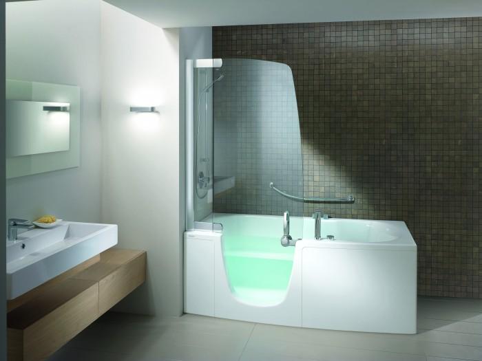 Les combin s bain douche teuco 382 384 et 385 for Teuco baignoire