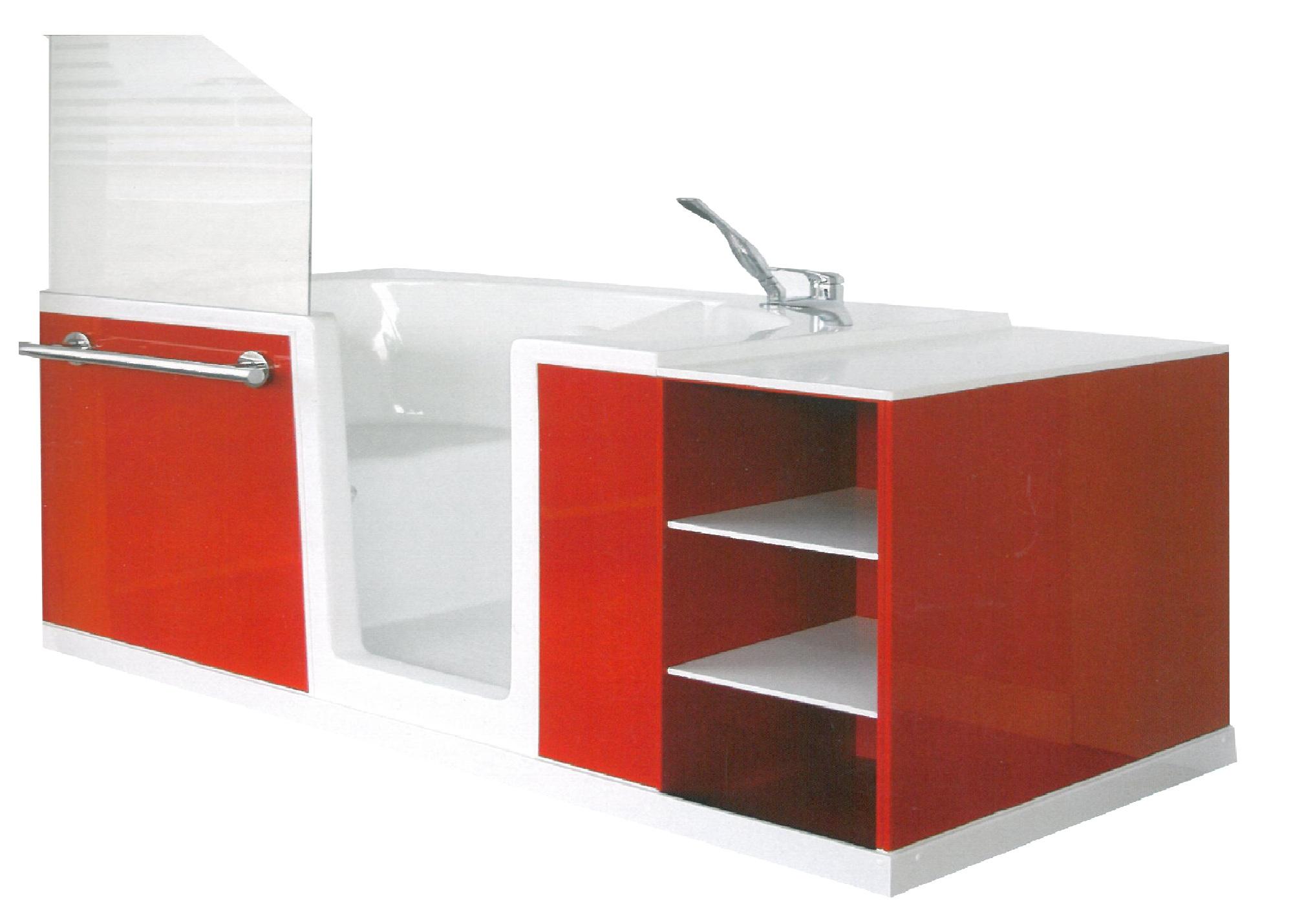 Disanit arz personnalisez votre baignoire porte for Prix baignoire a porte