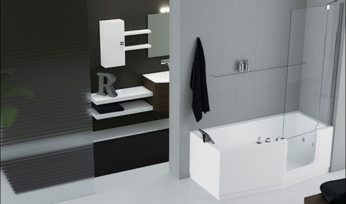 combin baignoire porte et douche iris comby. Black Bedroom Furniture Sets. Home Design Ideas