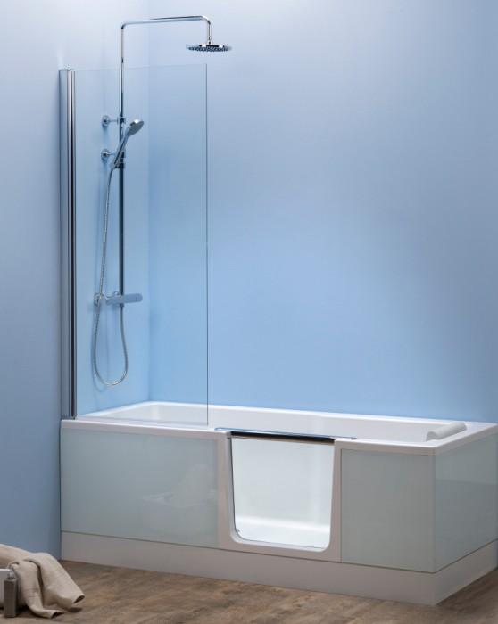 combin bain douche saniku duo ii lignes pur es. Black Bedroom Furniture Sets. Home Design Ideas