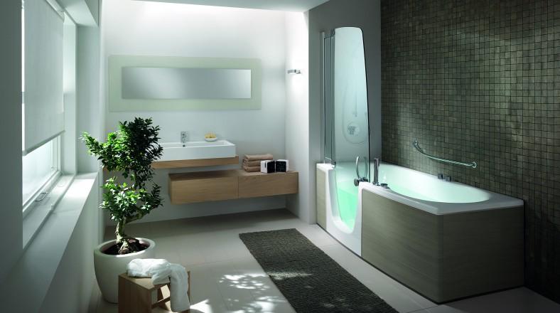 Les combin s bain douche teuco 382 384 et 385 - Baignoire et douche cote a cote ...