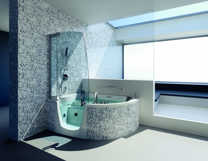 Teuco la marque italienne des combin s bain douche for Teuco baignoire