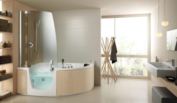 Combiné bain douche teuco 383 : intégration harmonieuse