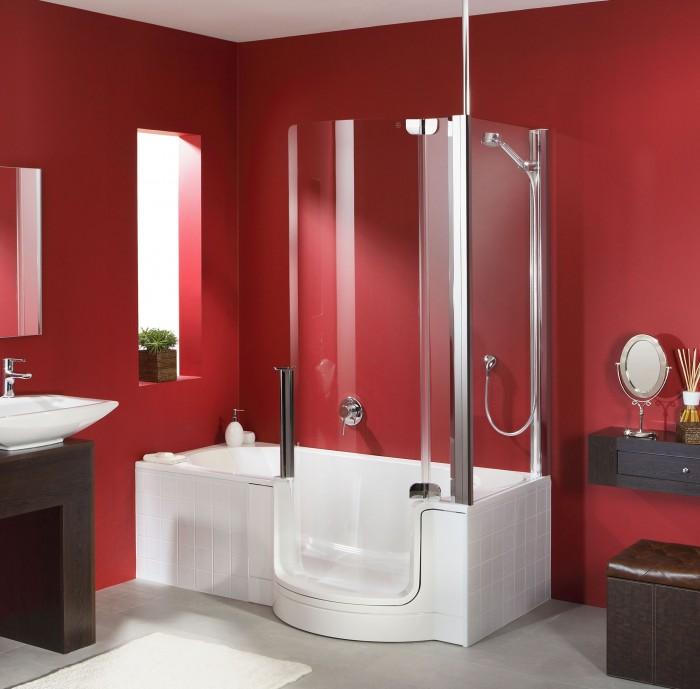 combin bain douche twinline classic le 2 en 1 id al. Black Bedroom Furniture Sets. Home Design Ideas