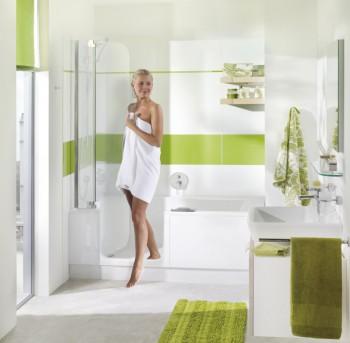 Combiné bain-douche avec porte Twinline 2