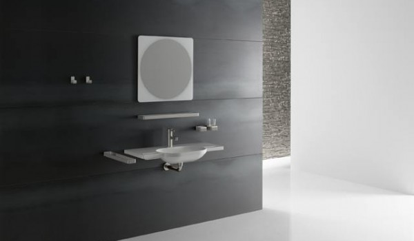 lavabo ergonomique extra plat pour personnes handicap es et seniors. Black Bedroom Furniture Sets. Home Design Ideas