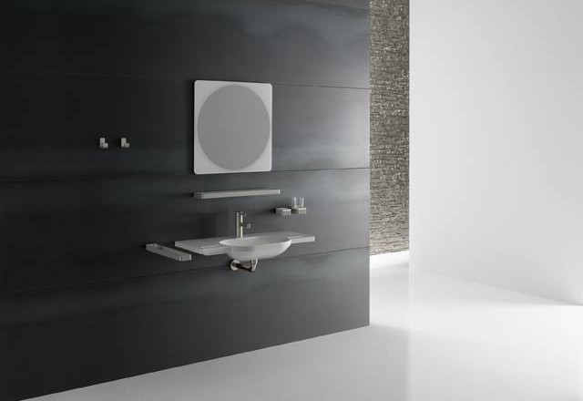 lavabo extra plat avec poign es hewi. Black Bedroom Furniture Sets. Home Design Ideas