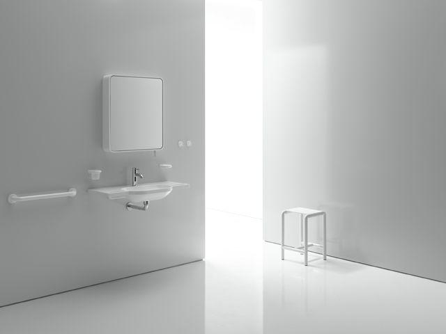 Miroir cadre blanc