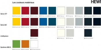 Les couleurs disponibles pour nos accessoires HEWI