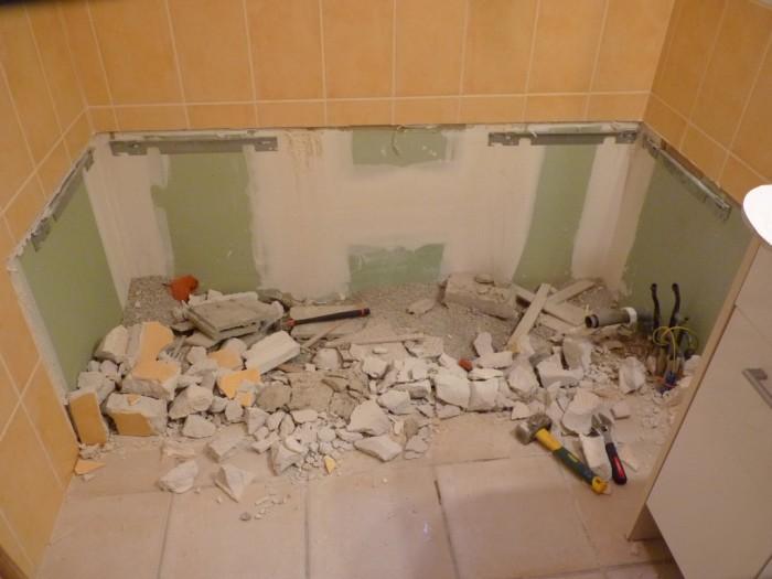 r novation salle de bain exemple d 39 une douche plain pied. Black Bedroom Furniture Sets. Home Design Ideas