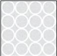 Rideau en polyester Bulles blanches