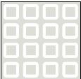 Rideau en polyester Carrés blancs