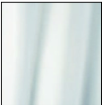 Rideau en polyester Blanc Uni
