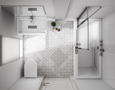 Choisir un combin bain douche pour une petit salle de bain for Lavabo salle de bain petit espace