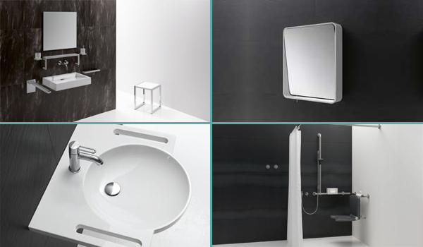 Lavabos extra-plats, miroirs inclinables, tabourets...