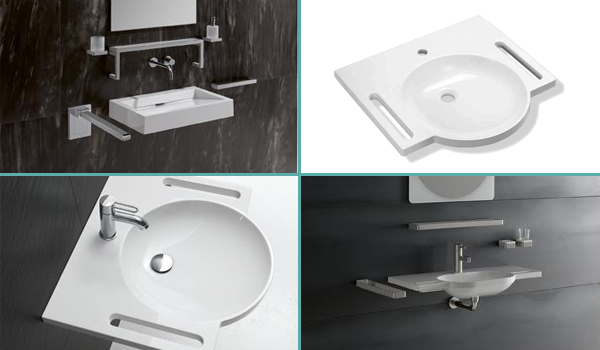 Lavabos HEWI extra-plats au design universel