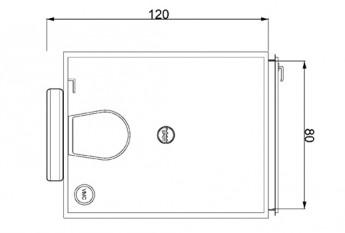 Plan de la salle d'eau préfabriquée Go