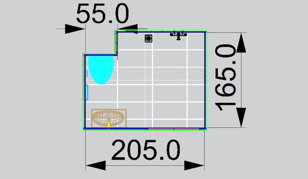 Mobilistar la salle d 39 eau aux grandes dimensions pour pmr - Plan de salle d eau ...