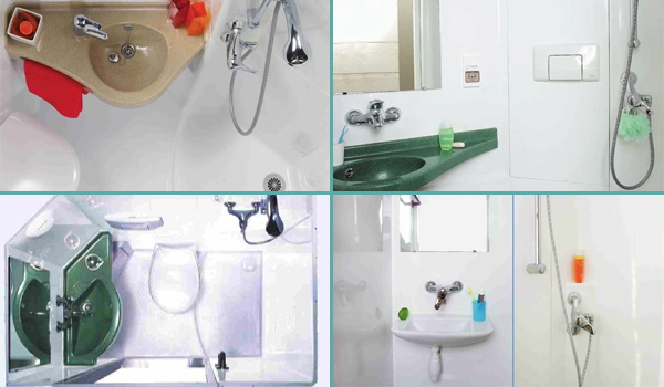 Salles de bain pr fabriqu es la salle d 39 eau int gr e 3 en 1 - Salle de bain compacte ...