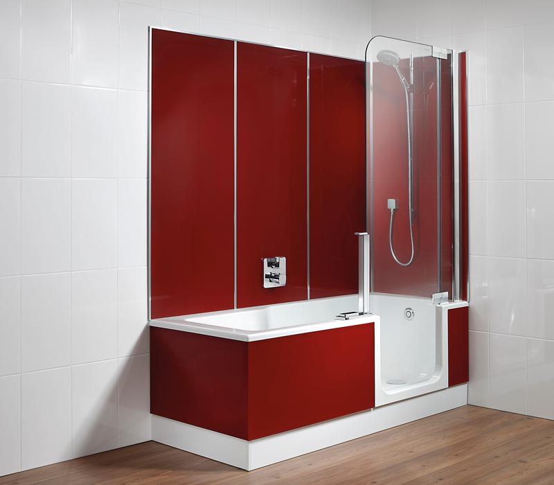 baignoire douche balneo avec porte modele baignoire modele de salle de bain avec douche et. Black Bedroom Furniture Sets. Home Design Ideas