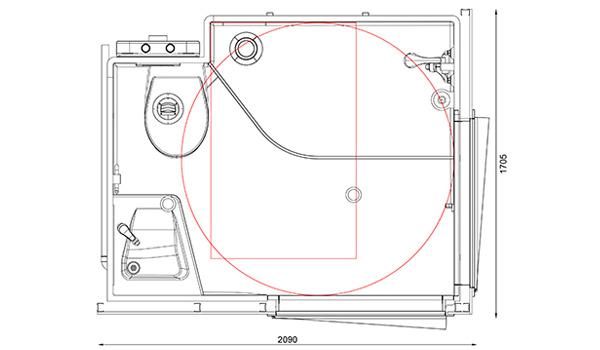 salles de bain pr fabriqu es pour les personnes mobilit. Black Bedroom Furniture Sets. Home Design Ideas