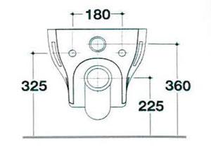 Dimensions pack Confort AquaClean 5000plus