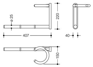 Dimensions porte-serviette