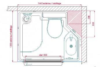 Plan de la salle de bain Quadranova
