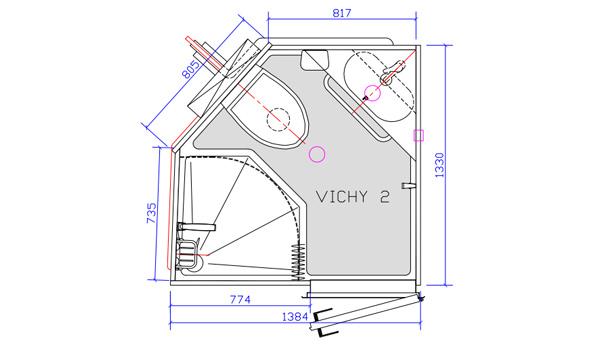 Salle de bain préfabriquée Vichy