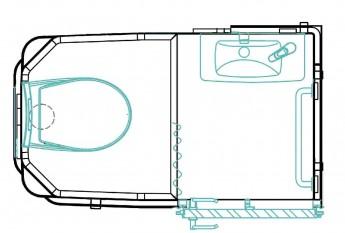 Cabine préfabriquée Simplinova WC Lavabo