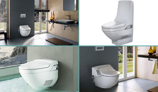 WC japonais, lavant et séchant